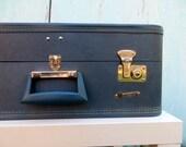 1960's Square Monarch Garment Suitcase
