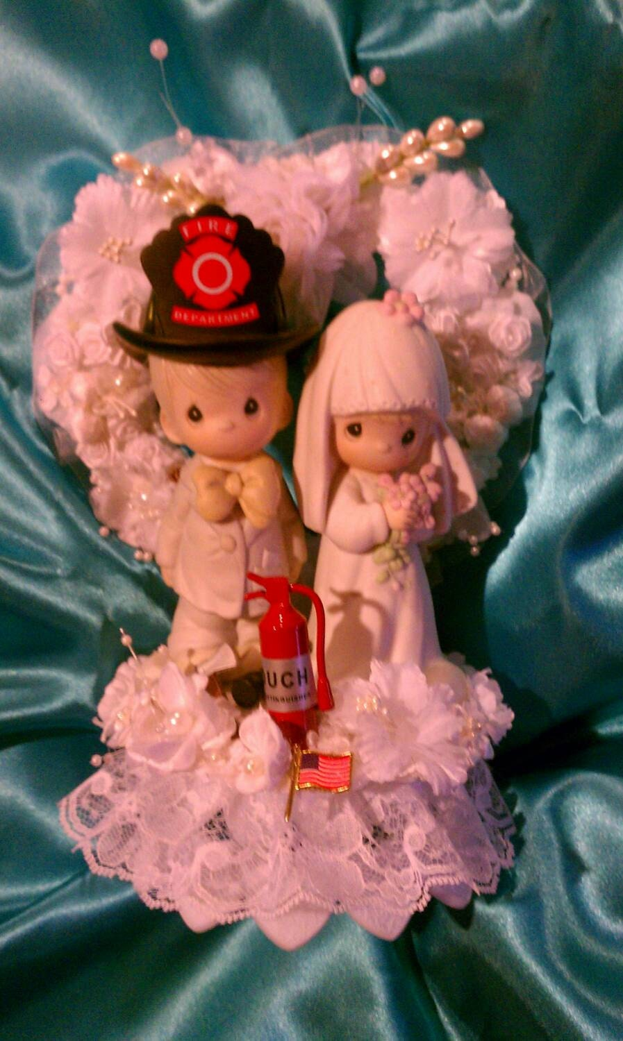 Precious Moments Firefighter Cake Topper