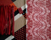 DIY Fabric and notions Reds & Nudes Sloped Squares for 1 BRA and BRIEF by Merckwaerdigh