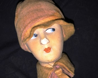 Antique German Doll Head Hat Stand