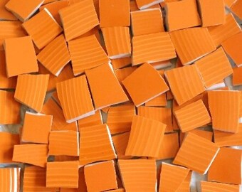 Mosaic Tiles-Obstinant Orange -100 Tiles- Sale