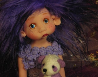 Fairy Fairies Fae pixie elf OOAK Fantasy Art Doll By Lori Schroeder 199an