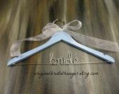 SALE 20% OFF Bridal Hanger Bridesmaid Gifts Custom Bridal Hanger Photo Prop Personalized Hangers Name Hangers Brides Hanger Wedding Hangers