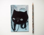 cat postcard, cat art, cat illustration