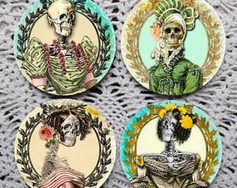 Best Dressed -- Day of the Dead Skeleton Mousepad Coaster Set