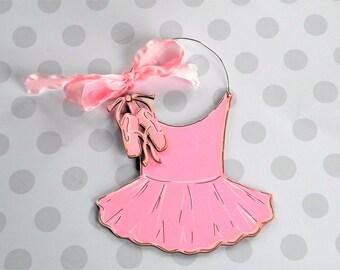 Ballet Ornament - tutu and shoes ornament - dance ornament - personalized - ballerina ornament = Christmas ornament - Nutcracker ballet