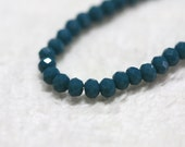 50 pcs. 2x3mm. Dark Blue Grey Faceted Rondelle Chinese Glass Crystal