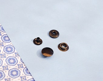 FREE SHIPPING--20 sets of 15mm Fastener Metal Snap Buttons in Gunmetal