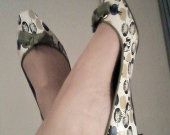 SALE Vintage Funky Kitten Heels  Pumps shoes size 8 1/2 US - UK 6/1/2