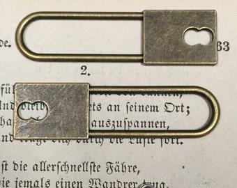 key lock estucheon bronze color  quantity 2   charms pendants jewelry findings   G6