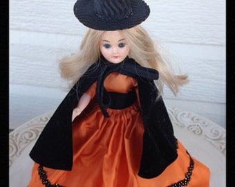 Vintage Halloween  Witch in Black Halloween Decoration  Halloween Ornament for Halloween party TVAT Vintage Doll
