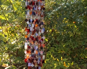 Autunno in Toscana Unique Wind Chimes - Suncatcher - OOAK Gift For Her, Anniversary, Birthday, Wedding, Housewarming