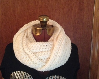 White infinity cowl scarf