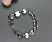 Super Heavy Recycled Sterling Nugget Bracelet