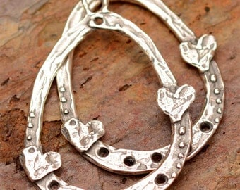 Bohemian Earring Findings, Sterling Silver Earring Hoops, AD420