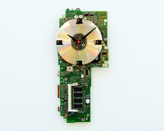 Recycled Computer Laptop Motherboard Clock
