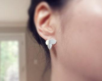 Sterling Sliver Handmade Montpellier Maple Leaf Earrings I