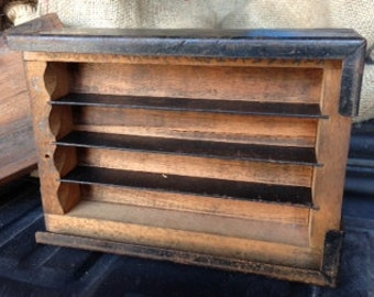 1920 Wood Foundry Box from Monotype Factory Holds Lead Letterpress Antique Wood Box