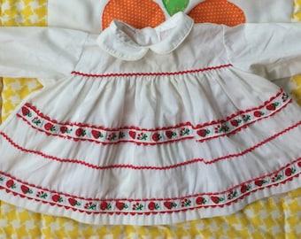 1950s Fruit Dress 6/9 Months