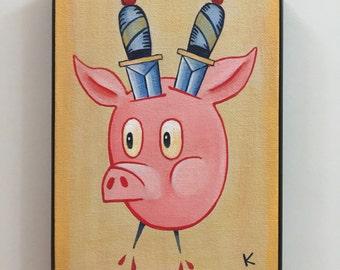 Porcine Protector  - Original artwork by Kevin Kosmicki