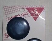 2 Large Blue Plastic Buttons