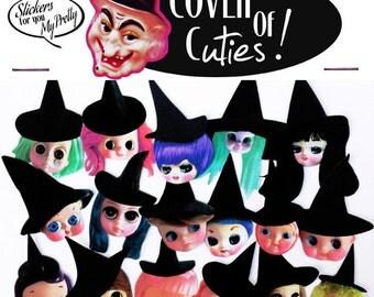 witch doll stickers cute big eye dolly girls boopsiedaisy sticky poos