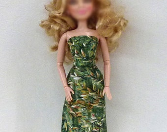 "Fashion doll Handmade dress made by GrizzlyCreek fits 11.5"" fashion dolls"