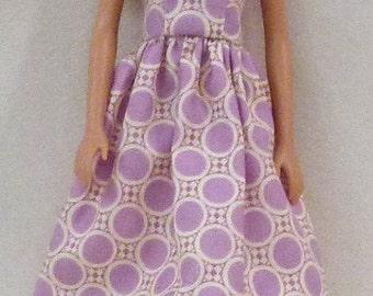 """Lavender Handmade 11.5"""" Fashion Doll Dress"""