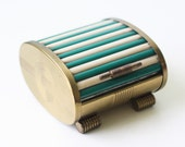 Vintage Park Sherman Cigarette Holder, Art Deco Style Green and White Box