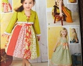 Sewing Pattern Simplicity 1331 Toddler Girls' Dresses size 1/2-4  Uncut Complete FF