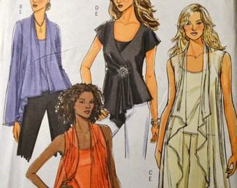 Sewing Pattern Butterick 4989 Misses' Tops and Camisole Bust 38-44 inches Complete UNCUT