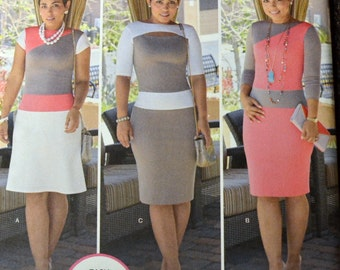 Sewing Pattern Simplicity 1276 Mimi Style Misses' Dress Bust 38-46 inches UNCUT Complete