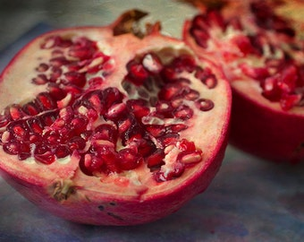 Kitchen Art, Pomegranate Print,  Food Photography,  Still Life, Kitchen Wall Decor, Kitchen Print, Rustic Decor