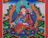 Buddhist Teacher Padmasambhav  Original Thangka Painting from Nepal Non Profit