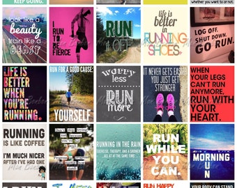 Running Quotes for Life Planners - Print at Home - Life Planner Printable Running Quotes - fits Erin Condren Life Planners - Sticker Sheet