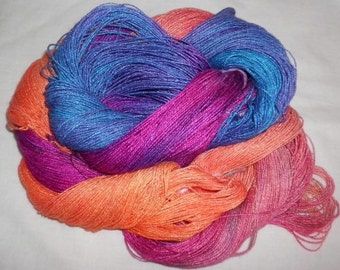 Hand Dyed Bamboo Yarn - EXQUISITE- 630 yds