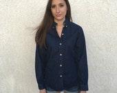 SALE Vintage 90s J Crew Denim shirt S