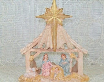Votive Holder Nativity Set -Ceramic Handmade