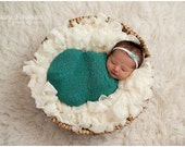 White boa basket filler/newborn basket stuffer/boa basket stuffer/newborn photography prop/layering piece/white lace ribbon yarn