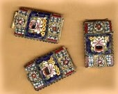 vintage RECTANGLE italian micromosaic findings BOX LOT for repurpose and reuse colorful shell micromosaic three findings