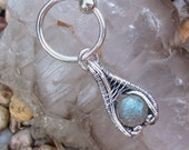 Bohemian Belly Ring, Boho Jewelry, Hippie Jewelry, Labradorite Belly Button Ring, Navel Jewelry, Dangle, Wire Wrap