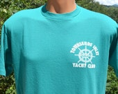 vintage 80s t-shirt TOWNSENDS INLET yacht club sailing sea isle new jersey tee Large Medium preppy