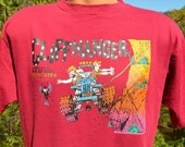 vintage 80s tee shirt MOAB utah cliffhanger jeep wrangler race t-shirt Medium Large 90s