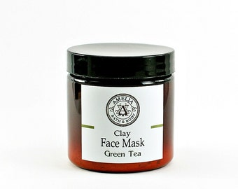 Green Tea Face Mask | Natural Facial Care, All Natural Clay Mask and Scrub, Vegan Skin Care, Facial, Gift Idea For Her, Gift Idea For Women