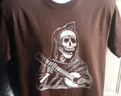 SPECIAL-Posada Calavera Mens Brown T-shirt M L