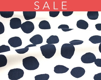 SALE - Lotta Jansdotter Lucky Collection - Hemendu in Midnight Navy - fabric by the half yard