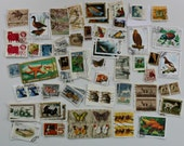 Cancelled Animal Stamps. 100 Piece Pack