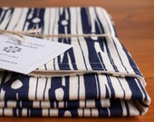 Organic Baby Blanket in FAUX BOIS DUSK; Navy Blue Ivory Woodgrain, Woodland Baby Blanket Gift, Organic Blanket by Organic Quilt Company