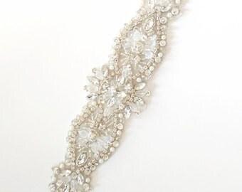 SALE / Crystal Applique / DIY Bride / Belt Applique