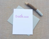 Letterpress Greeting Card - Mother's Day Card - Truthnote - I'm Glad You're My Grandmother - TRN-434